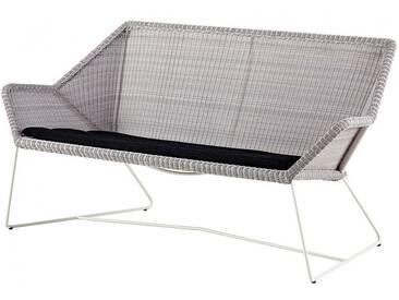 Loungesofa Breeze Cane-line grau, Designer Christina Strand, Niels Hvass, 78x154x76 cm