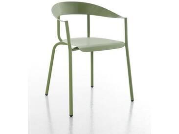Stuhl Alu Mito Conmoto grün, Designer Pascal Bosetti, 78x60x52 cm