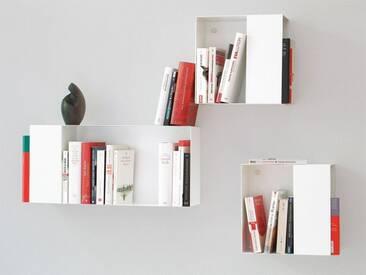 Bücherregal Box vonbox weiß, Designer Matthias Hartmann, 28x63x15 cm