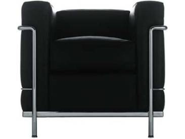 Cassina Cassina LC2 Sessel grau, Designer Le Corbusier, 67x76x70 cm
