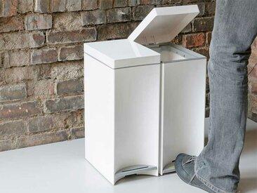 Mülleimer Dustin weiß, Designer Designstudio speziell®, 50x21x33 cm