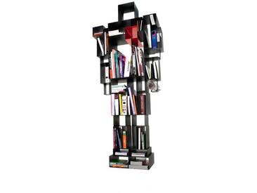 Regal Robox Casamania grau, Designer Fabio Novembre, 184x81x31 cm