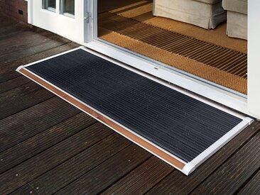 Outdoor-Fußmatte New Standard RiZZ weiß, Designer Trudie Zuiddam/WELL design, 2.2x120x70 cm