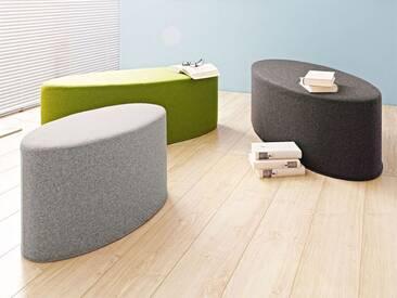 Softline Hocker Bon-Bon Grau, Designer Busk & Hertzog, 33x60x30 cm