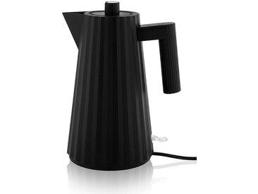 Wasser-Kocher Plissé Alessi schwarz, Designer Michele de Lucchi, 29x(mit Griff) 21 cm