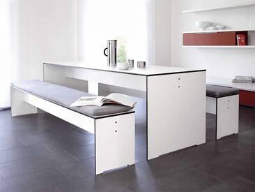 Bank Riva Conmoto Weiß, Designer Schweiger & Viererbl, 44x176x35 cm