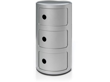 Kartell Container Componibili silber, Designer Anna Castelli Ferrieri, 58.5 cm