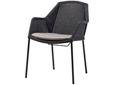 Stapelstuhl Breeze Cane-line schwarz, Designer Christina Strand, Niels Hvass, 83x60x62 cm