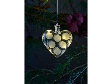 LED-Weihnachtsanhänger Polka Sirius weiß, Designer Pernille Struer, 8x8x1.5 cm