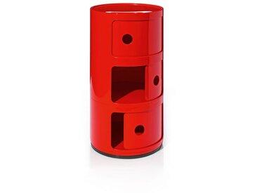 Kartell Container Componibili rot, Designer Anna Castelli Ferrieri, 58.5 cm