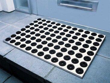 Fußmatte Feet-Back Radius schwarz, Designer Michael Rösing, 1.9x58.5x39 cm