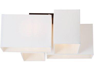 Deckenleuchte, 4-flammig, 4x E14 max. 60W, Metall / Textil, schwarz / weiß