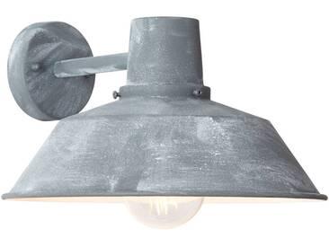 Außenwandleuchte, hängend, 1x E27 max. 60W, Metall / Glas, grau Beton