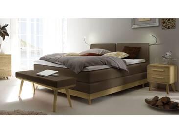 Boxspringbett Binga in 180x220 cm, Braun, mehr Farben und Größen auf Betten.de