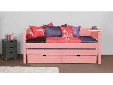 Modernes Kojenbett 90x200 cm in rosa - Kids Town Color - Kinderbett