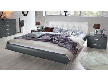 Schwebebett Cosenza - 200x200 cm - anthrazit - Designerbett