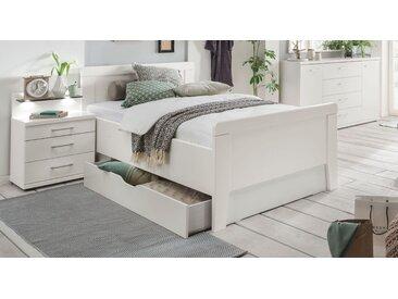 Stabiles Seniorenbett mit Schubkasten 90x200 cm weiß - Calimera - BETTEN.de
