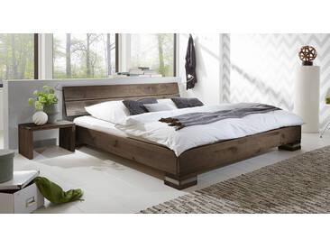 Massivholzbett Curada in 200x200 cm, Braun, mehr Farben und Größen auf Betten.de