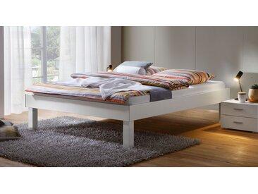 Bettgestell ohne Kopfteil 140x200 cm weiß Fußhöhe wählbar - Sierra - Designerbett