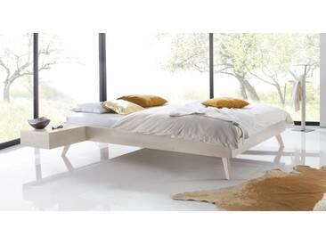 Massivholzbett Andros in 180x220 cm, Weiß, mehr Farben und Größen auf Betten.de