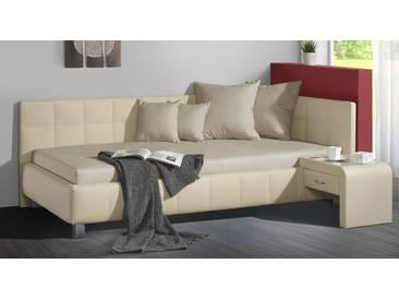 Polsterliege Nuca in 140x200 cm, Beige, mehr Farben und Größen auf Betten.de