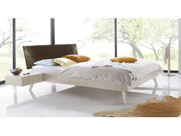 Skandinavisches Designbett Andros - 140x200 cm - Buche weiß - Massivholzbett
