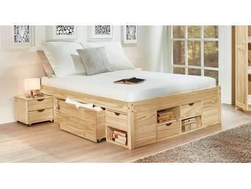Bett mit Stauraum Oslo in 140x200 cm, Beige, mehr Farben und Größen auf Betten.de