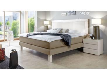 Boxspringbett Aragonia in 140x220 cm, Beige, mehr Farben und Größen auf Betten.de