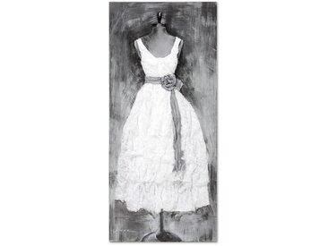 Wandbild 70x150 cm mit stilvollem 3D-Effekt - Dress weiß - BETTEN.de