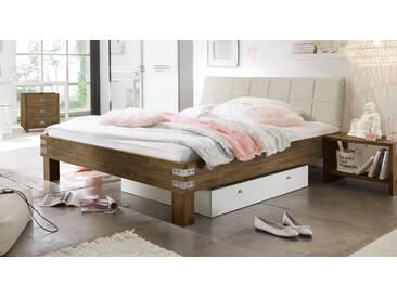 Massivholzbett Pica in 200x200 cm, Braun, mehr Farben und Größen auf Betten.de