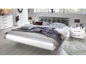 Schwebebett Cosenza - 180x200 cm - weiß - Designerbett