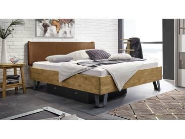 Massivholzbett Passo in 180x220 cm, Braun, mehr Farben und Größen auf Betten.de