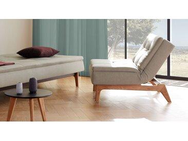 Sessel blau mit verstellbarer Lehne und integiertem Topper - Norland - Schlaf-Sessel