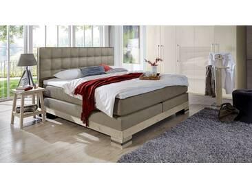 Boxspringbett Cueno in 140x200 cm, Grau, mehr Farben und Größen auf Betten.de