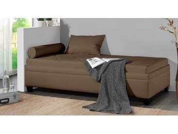 Polsterliege Kamina in 100x200 cm, Braun, mehr Farben und Größen auf Betten.de