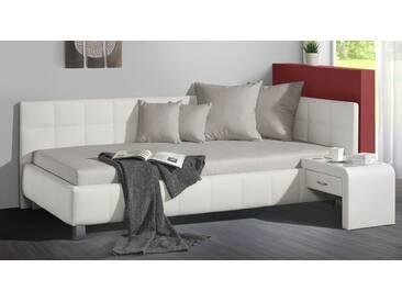 Polsterliege Nuca in 140x200 cm, Weiß, mehr Farben und Größen auf Betten.de