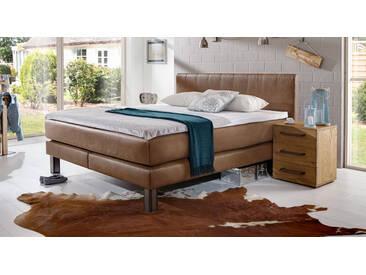 Boxspringbett Kastilia in 100x200 cm, Braun, mehr Farben und Größen auf Betten.de