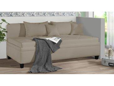 Bettsofa mit oder ohne Matratze 90x200 cm beige - Kamina - Polsterliege