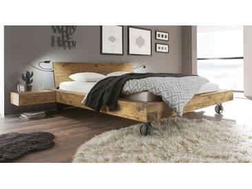 Massivholzbett Quesada in 140x200 cm, Braun, mehr Farben und Größen auf Betten.de