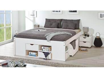 Bett mit Stauraum Göteborg in 180x200 cm, Weiß, mehr Farben und Größen auf Betten.de