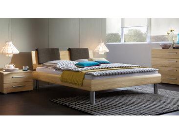 Dekorbett mit Kopfteil Enna - 180x200 cm - Esche hell - Fußhöhe 25 cm - Designerbett