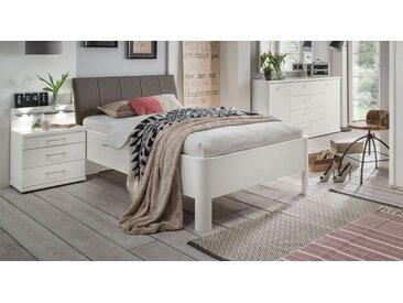 Weißes Komfortbett mit Kopfteilpolster 100x200 cm - Castelli - BETTEN.de