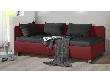 Studioliege mit Bettkasten 90x200 cm rot kaufen - Lisala - Polsterliege