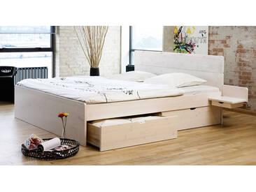 Bett mit Stauraum Finnland in 180x210 cm, Weiß, mehr Farben und Größen auf Betten.de