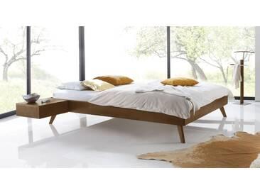 Massivholzbett Andros in 140x220 cm, Braun, mehr Farben und Größen auf Betten.de