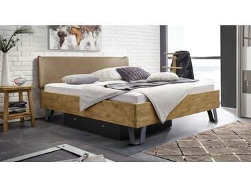 Massivholzbett Passo in 140x200 cm, Braun, mehr Farben und Größen auf Betten.de