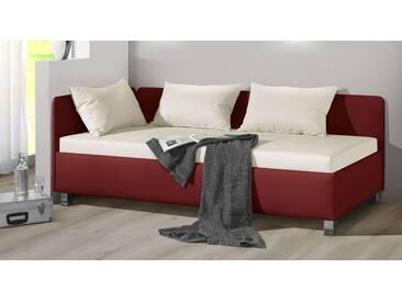 Polsterliege Lisala in 100x200 cm, Rot, mehr Farben und Größen auf Betten.de