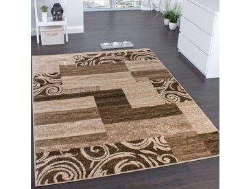 Designerteppich für Wohnzimmer Inneneinrichtung Teppich Meliert Beige Braun