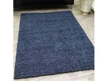 Shaggy Blau Hochflor Langflor Teppich Blau Ausverkauf Hammer Preis