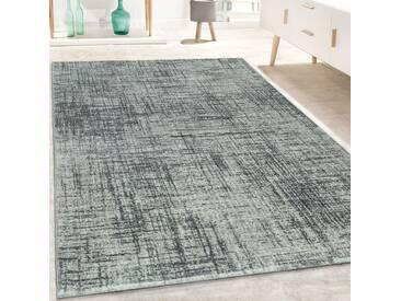 Designer Teppich Kurzflor Wohnzimmer Meliert Geometrische Formen Muster In Grau